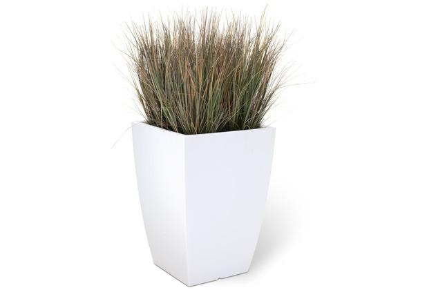 fleur ami SETS ECONOMY, EASY 40x40/57 cm matt-weiß, ZWIEBELGRAS 60 cm