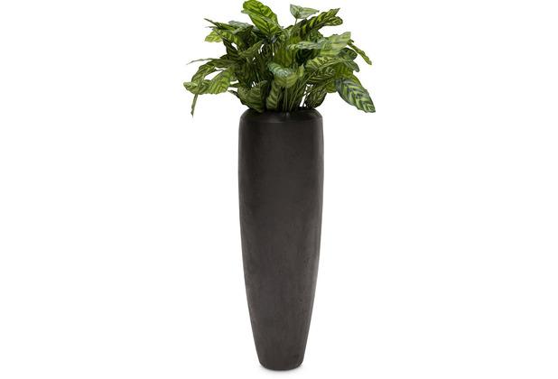 fleur ami SETS PREMIUM, Loft 31/100 cm black iron, CALATHEA Kunstpflanze, 80 cm
