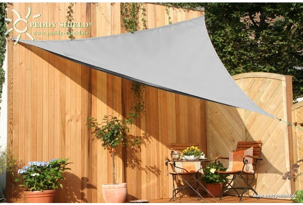 Floracord HDPE Dreiecksonnensegel grau 360 cm Wind- u. Wasserdurchlässig