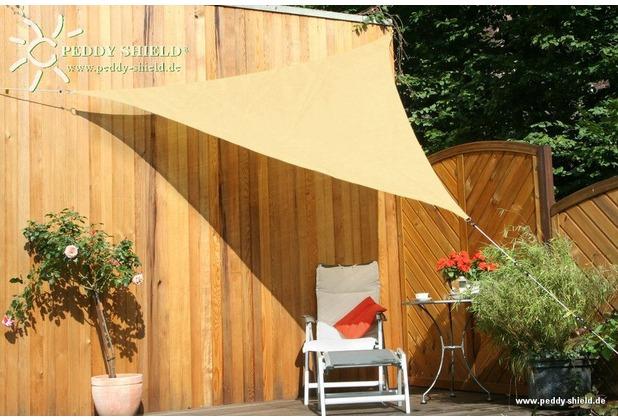 Floracord HDPE Dreiecksonnensegel Weizen 300 cm Wind- u. Wasserdurchlässig