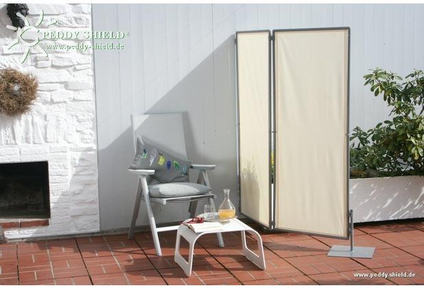 Floracord Paravent Sicht- und Windschutz Hell Elfenbein 70 cm x 170 cm
