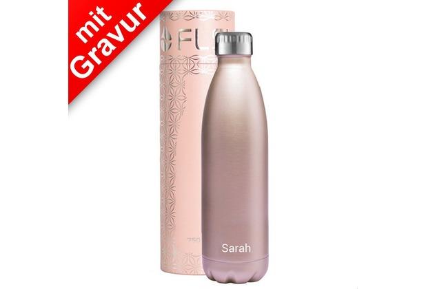 FLSK Isolierflasche 750ml Roségold MIT GRAVUR (z.B. Namen)