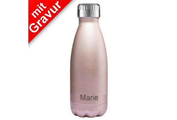 FLSK FLSK Isolierflasche MIT GRAVUR (z.B. Namen) 350 ml Roségold rosa