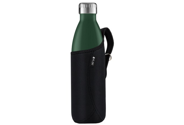 FLSK Isolierflasche 750 ml Forest + Neoprentasche