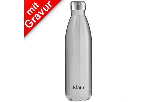 FLSK Isolierflasche 750ml Stainless Edelstahl MIT GRAVUR (z.B. Namen)