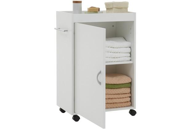 FMD Möbel CORDOBA - Badezimmerschrank Auf Rollen Weiß