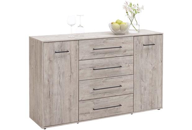 fmd m bel juli 6 kommode mit 2 t ren und 4 schuk sten sandeiche nachbildung ebay. Black Bedroom Furniture Sets. Home Design Ideas