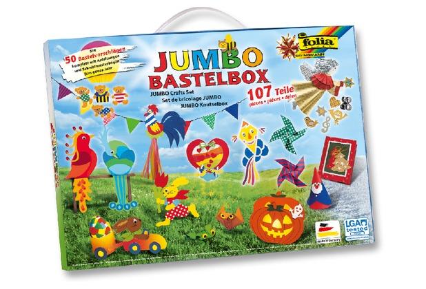 folia JUMBO Bastelkoffer 107 teilig