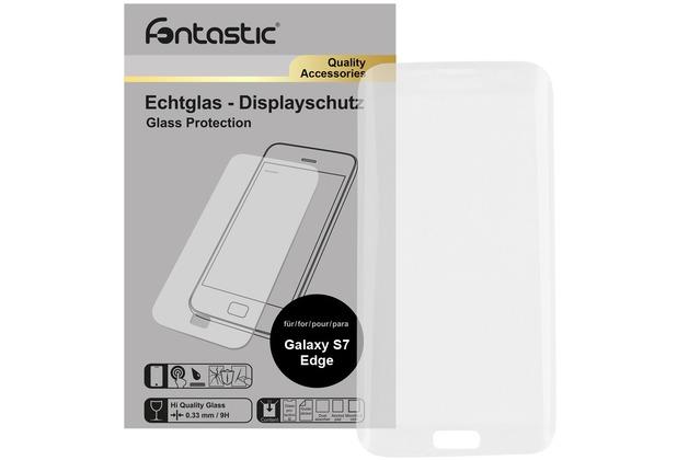 Fontastic Curve Schutzglas (gebogen) 1 Stück für Samsung Galaxy S7 Edge