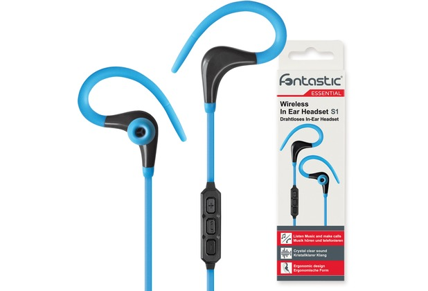 Fontastic Essential Drahtloses In-Ear Headset S1 blau / sw BT Sportive Headset