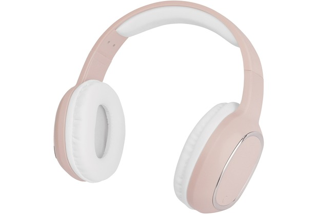 Fontastic Essential Essential Drahtloses On-Ear Headphone SPLEND rosa BT High Quality Speaker, One-Button Control