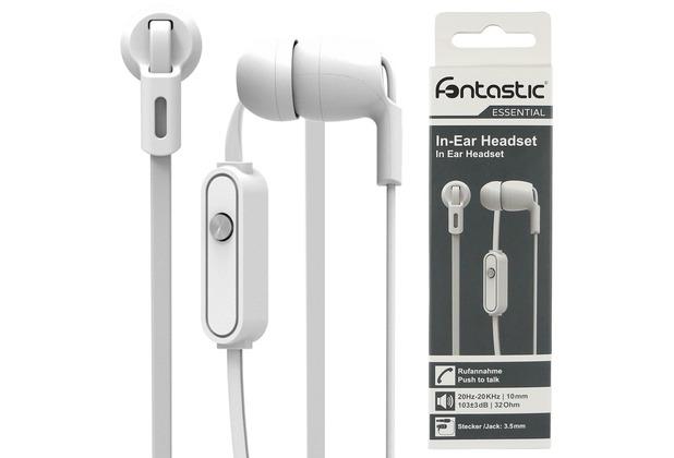 Fontastic Essential In-Ear Stereo-Headset weiß