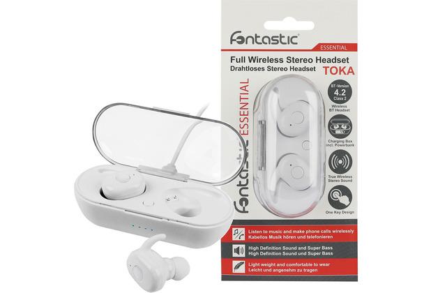 Fontastic Essential Essential True Wireless Stereo Kopfhörer Toka ws Musik und Telefonieren, inkl. tragbare Ladestation