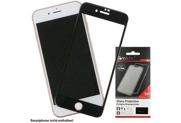 Fontastic Full Cover Schutzglas Schwarz komp. mit Apple iPhone 7+/8+