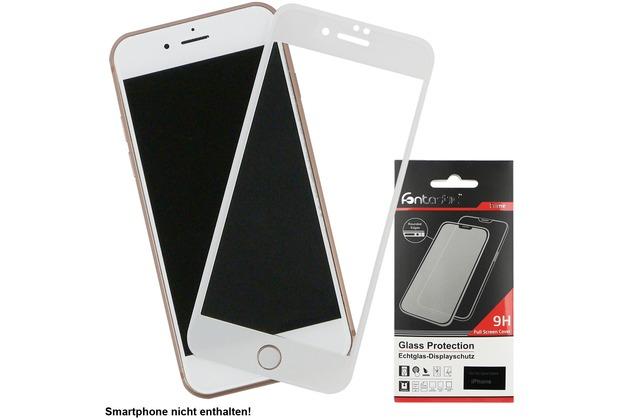 Fontastic Full Cover Schutzglas Weiß komp. mit Apple iPhone 7+/8+