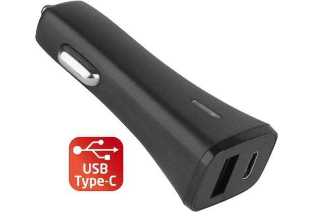 Fontastic Kfz-Ladeadapter Centa Typ-C & USB 20.5W schwarz Typ-C PD Profil 1 5V 3A / USB-A 5V 1.1A