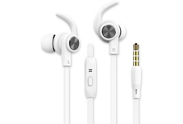 Fontastic Prime In-Ear Sport Headset SPRY 3.5mm weiß Rufannahme-Taste, Sicherer Tragekomfort