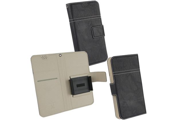 Fontastic Prime Tasche Diary Hola Universal 2XL schwarz 147 x 73 x 8MM