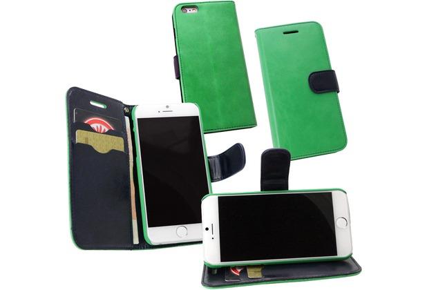 Fontastic PU Tasche Diary Twin grün für Apple iPhone 6/6s