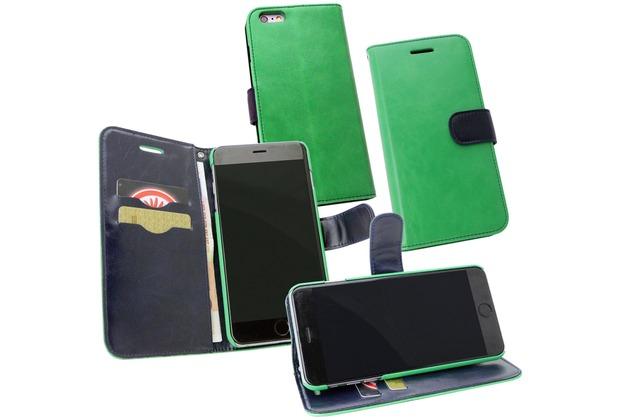 Fontastic PU Tasche Diary Twin grün für Apple iPhone 6+/6s+