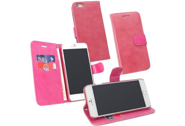 Fontastic PU Tasche Diary Twin pink für Apple iPhone 6+/6s+