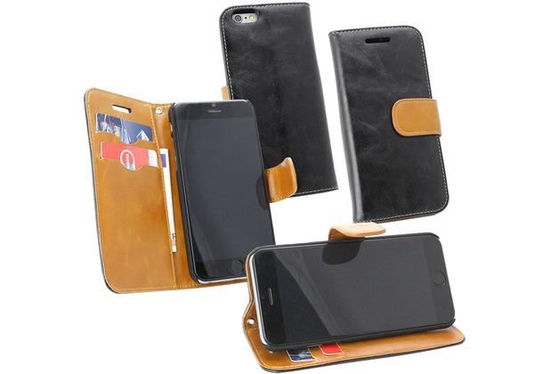 Fontastic PU Tasche Diary Twin schwarz für Apple iPhone 6/6s