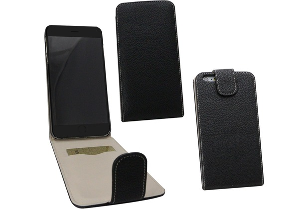 Fontastic PU Tasche Flip Noma schwarz für Apple iPhone 6+/6s+