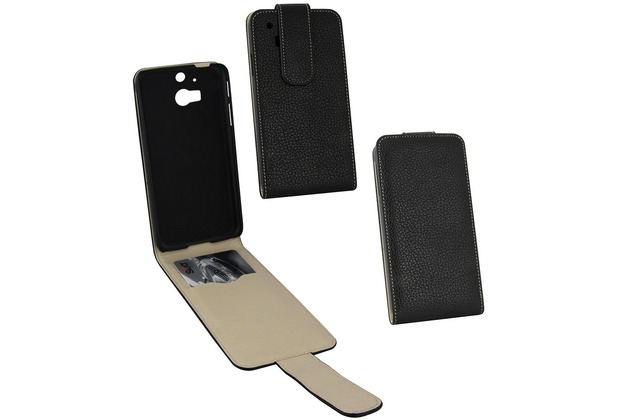 Fontastic PU Tasche Flip Noma schwarz für HTC One M8