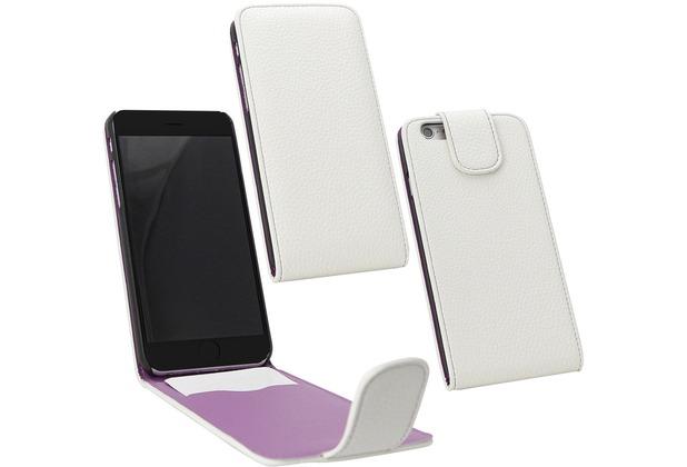 Fontastic PU Tasche Flip Noma weiß für Apple iPhone 6+/6s+