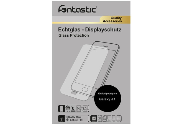 Fontastic Schutzglas 1 Stück für Samsung Galaxy J1