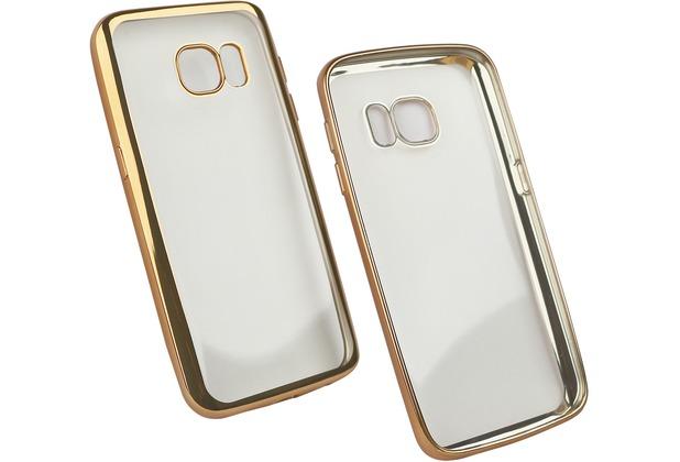 Fontastic Softcover Clear Metallic Ultrathin Gold für Samsung Galaxy S7