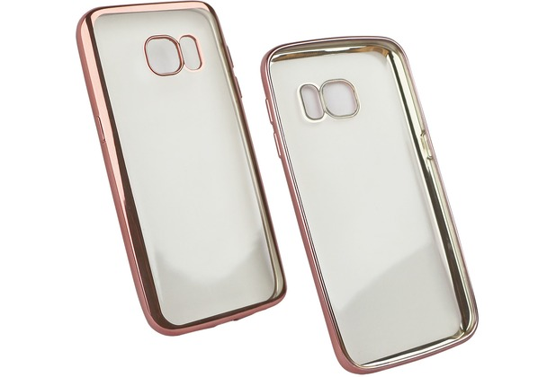 Fontastic Softcover Clear Metallic Ultrathin Rosegold für Samsung Galaxy S7