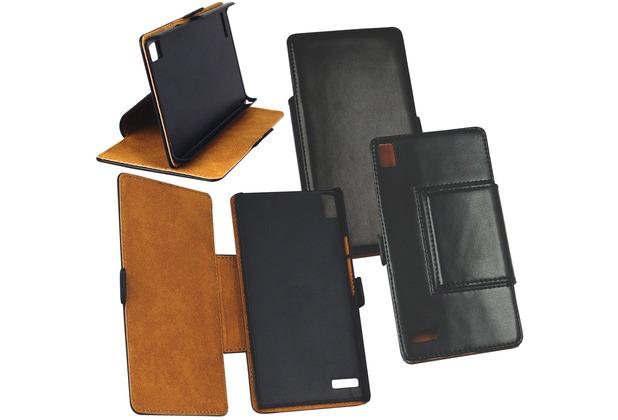 Fontastic Tasche Diary schwarz für Huawei Ascend P6