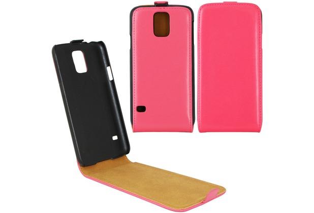 Fontastic Tasche Flip pink für Samsung Galaxy S5