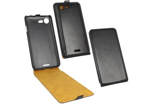 Fontastic Tasche Flip schwarz für Wiko Stairway