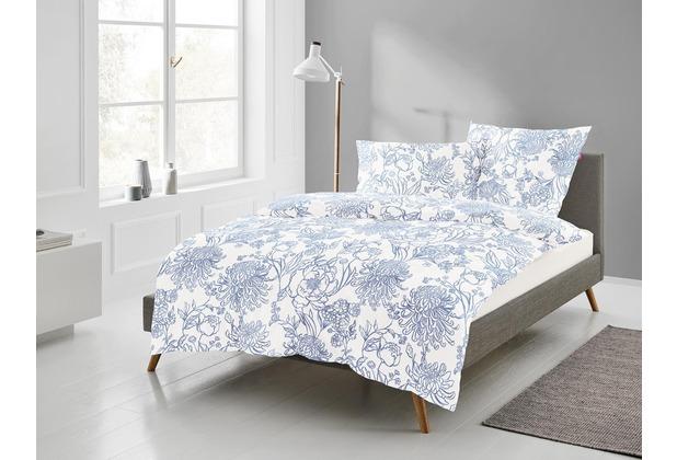 freundin Mako-Satin Bettwäsche Corado 8946 bleu 135 x 200 cm