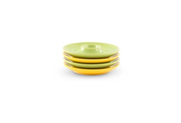 Friesland 4er-Set Eierteller 13cm Happymix Limette/Zitrone