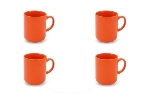 Friesland 4er Set Becher mit Henkel, Happymix, Friesland, 0,25l Orange