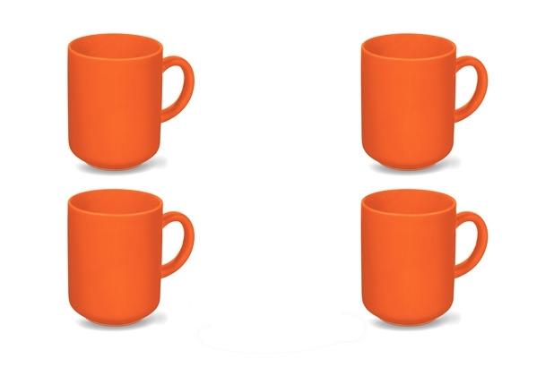Friesland 4er Set Becher Orange, Happymix, Friesland, 0,4l Orange