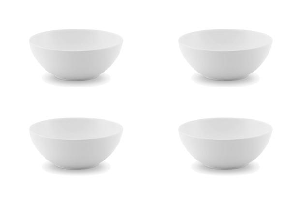 Friesland 4er Set Dessertschale, Ecco, Friesland, 13 cm, 4 tlg. weiß