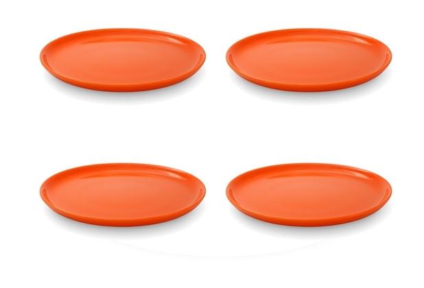 Friesland 4er Set Frühst.-Teller, Happymix, Friesland, 19 cm Orange