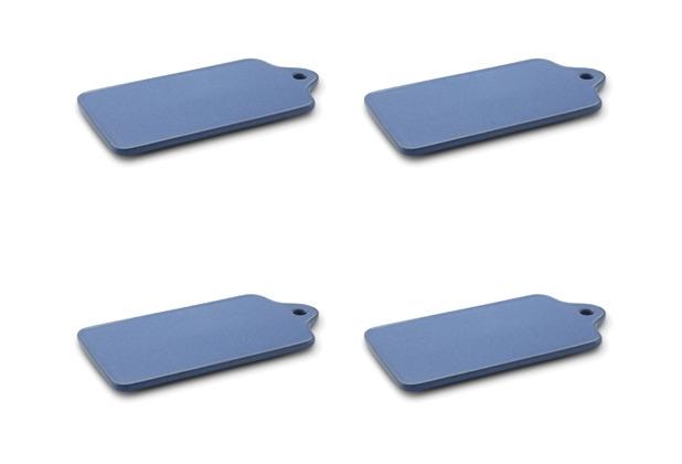 Friesland 4er Set Frühstücksbrett, Ammerland, Friesland, 14x27 cm, 4 tlg., 4 Personen Blue