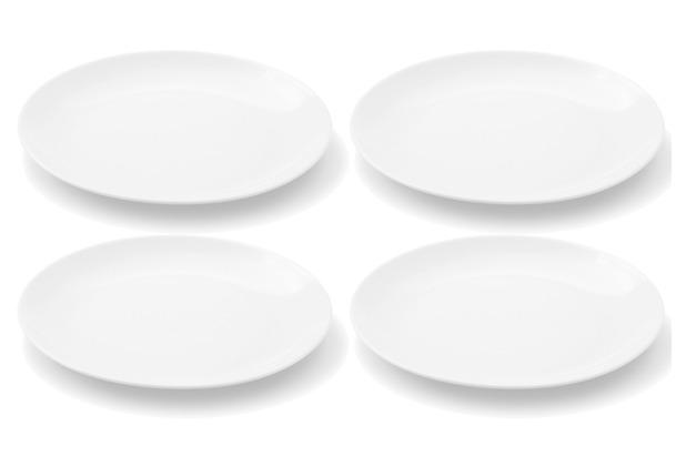 Friesland 4er Set Frühstücksteller, Chai, Friesland, 19 cm weiß