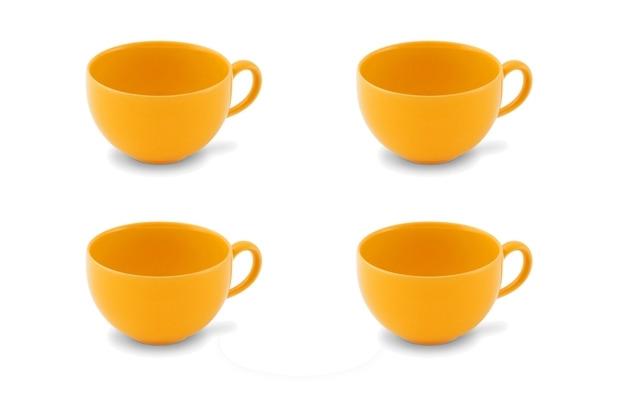Friesland 4er Set Kaffee- Obertasse, Happymix, Friesland, 0,24l, 4 teilig, 4 Personen Safrangelb