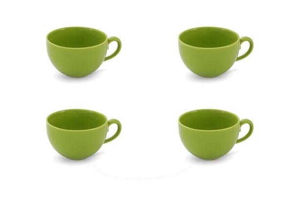 Friesland 4er Set Kaffee- Obertasse, Happymix, Friesland, 0,24l Limette