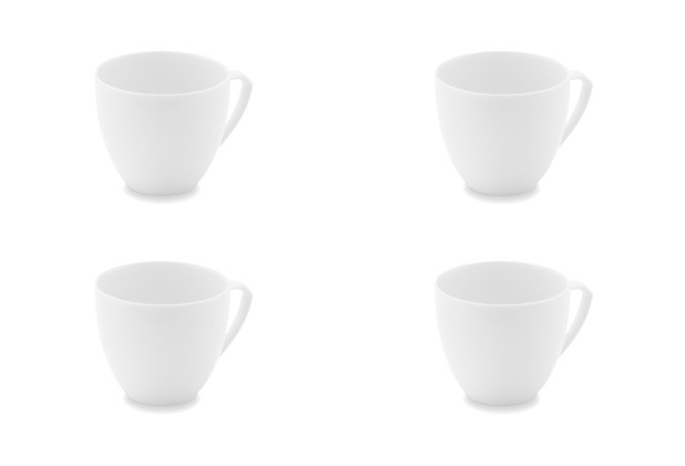 Friesland 4er Set Kaffee-Obertasse, Ecco, Friesland, 0,19l, 4 teilig weiß