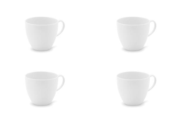 Friesland 4er Set Kaffee-Obertasse, La Belle, Friesland, 0,20l, 4 teilig, 4 Personen weiß