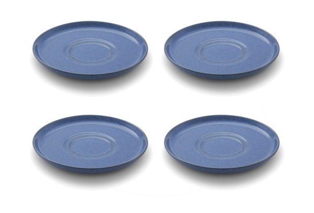 Friesland 4er Set Kombi-Untertasse, Ammerland, Friesland, 15 cm, 4 tlg., 4 Personen Blue
