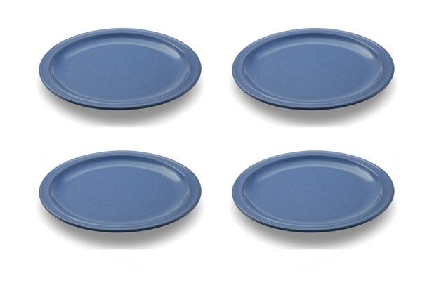 Friesland 4er Set Speiseteller, Ammerland, Friesland, 24 cm, 4 tlg., 4 Personen Blue