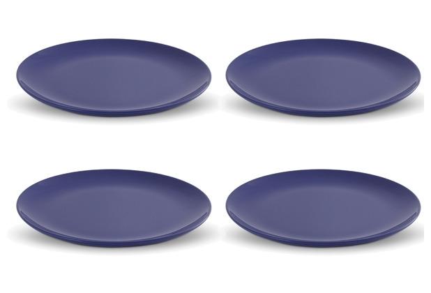 Friesland 4er Set Speiseteller Blau, Happymix, Friesland, 25 cm Blau